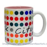 NYC Polka Dots 11oz Mug – White