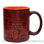 NYC Location Script Matte 11oz Mug – Brown