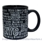 NYC Location Script Matte 11oz Mug – Black