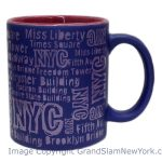 NYC Location Script Matte 11oz Mug – Purple