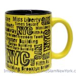 NYC Location Script Matte 11oz Mug – Yellow