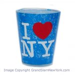 I Love NY Distressed Shot Glass – Lt Blue