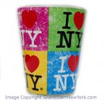 I Love NY Distressed Collage Shot Glass