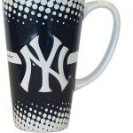 Yankees White & Navy Dotted Java Mug