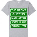 NY Street Sign T-shirt -Grey