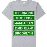 NY Street Sign T-shirt -Grey