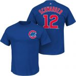 Kyle Schwarber T-Shirt – Blue Chicago Cubs Adult T-Shirt