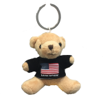 New York American Flag Plush Teddy Bear Black T-Shirt