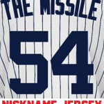 The Missile Ladies Jersey – Aroldis Chapman Yankees Womans Nickname Home Jersey