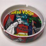 NYC Monuments Collage Ceramic Ashtray
