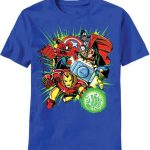 "Marvel Avengers ""Quad"" Blue Kids T-Shirt"