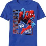"Vertical ""Spiderman"" Blue Kids T-Shirt"