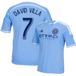 David Villa Blue Primary Replica Youth Jersey: NYCFC