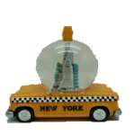 New York Taxi 65mm Snow Globe