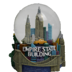 Colorful Empire State Building 65mm Snow Globe