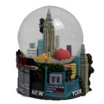 New York Popular Sites Colorful 65mm Snow Globe