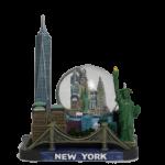 New York Freedom Tower & Skyline 45mm Snow Globe