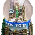 NY Skyline and Sea Color 100mm Snowglobe