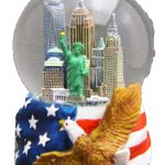 NYC Skyline with Eagle 45mm Snowglobe