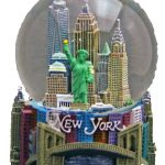 NY Skyline and Bridge 100mm Snowglobe