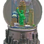 NY Skyline Silver and Color 45mm Snowglobe