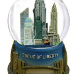 Statue of Liberty Brooklyn Bridge 65mm Snowglobe