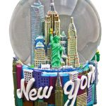 NY Icons Script Color 45mm Snowglobe