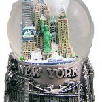 NY Skyline and Sea Pewter 45mm Snowglobe