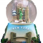 NYC Icons Square Base Blue 45mm Snowglobe
