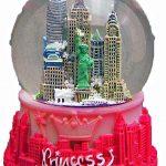 Princess NY Pink 65mm Snowglobe