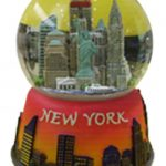 NY Skyline Orange Sunset 45mm Snowglobe