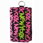 Neon Pink New York Wallet