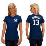 Alex Rodriguez NY Yankees Replica Ladies Fashion Tee