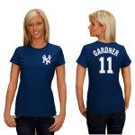 Brett Gardner NY Yankees Replica Ladies Fashion Tee
