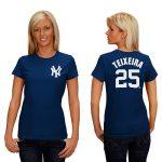 Mark Teixeira NY Yankees Replica Ladies Fashion Tee