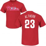 Aaron Altherr T-Shirt – Red Philadelphia Phillies Adult T-Shirt