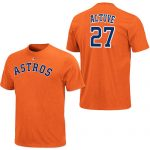 Jose Altuve T-Shirt – Orange Houston Astros Adult T-Shirt