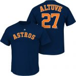 Jose Altuve T-Shirt – Navy Blue Houston Astros Adult T-Shirt