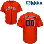 Houston Astros Replica Personalized Orange Alt Jersey