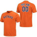 Houston Astros Personalized Orange Adult T-Shirt