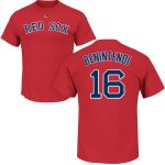 Andrew Benintendi T-Shirt – Navy Boston Red Sox Adult T-Shirt