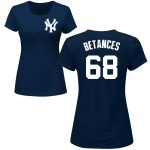 Dellin Betances Ladies T-Shirt – Navy NY Yankees Womens T-Shirt