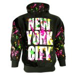 New York City Block w/Splatter Black Sweatshirt