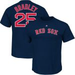 Jackie Bradley Jr T-Shirt – Navy Boston Red Sox Adult T-Shirt