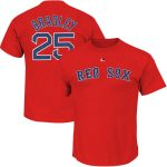 Jackie Bradley Jr T-Shirt – Red Boston Red Sox Adult T-Shirt