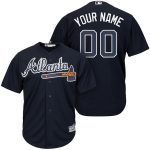 Atlanta Braves Replica Personalized Navy Alt Jersey