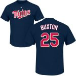 Byron Buxton Youth T-Shirt – Navy Minnesota Twins Kids T-Shirt