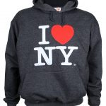 I Love NY Charcoal Embroidered Sweatshirt