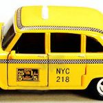 NYC Checker Cab Taxi 5″ Pullback Toy Car