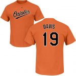 Chris Davis T-Shirt – Orange Baltimore Orioles Adult T-Shirt